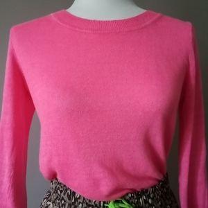 Neon Pink J. Crew Linen Tippi Sweater
